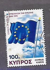 CYPRUS 433 USED COUNCIL OF EUROPE FLAG