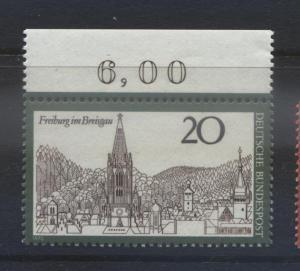 GERMANY. -Scott 1048 -Freburg im Breisgau  - 1970- MNH - Single 20pf Stamp