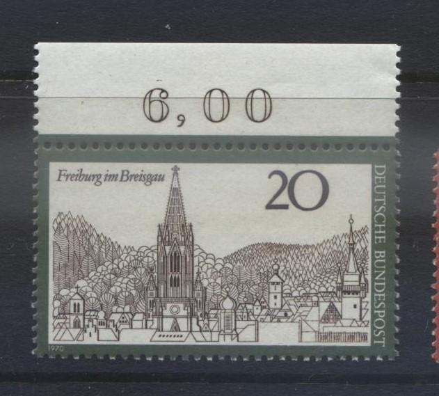 GERMANY. -Scott 1048 -Freburg im Breisgau  - 1970- MNH - Single 20pf Stamp