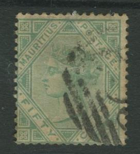 STAMP STATION PERTH: Mauritius #66 FU 1880  Single 50c Stamp