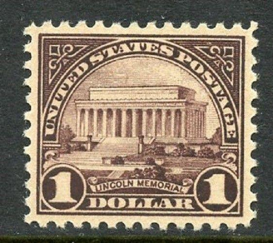 U.S. Scott 571 $1 Fourth Bureau Issue Picturing Lincoln Memorial XF+ Unused