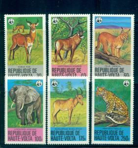 Burkina Faso - Sc# 506-11. 1979 WWF Endangered Species. MNH $29.90.