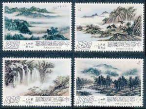 ROC -TAIWAN Sc#2038-2041 Landscapes painted by Madame Chiang Kai-shek 1977 MNH