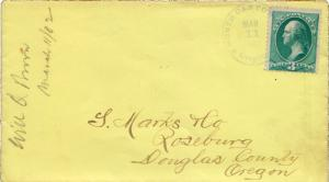 United States Oregon North Canyonville 1882 serifed cds with maltese crosses ...