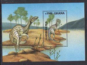 Ghana-Sc #1462-sheet-Dinosaurs-Animals-unused-NH-