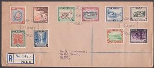 NIUE 1950 Definitive set on registered FDC...................................476