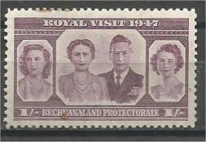 BECHUANALAND, 1947, MNH 1sh, Royal Visit, Scott 146
