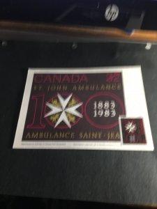 Canada 1983 Show Card ST. JOHN AMBULANCE Maximum Card First Day Cancel VF Used