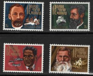 PNG Papua New Guinea Scott 355-358 MNH** missionary set