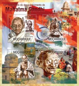 MOZAMBIQUE 2013 SHEET GANDHI NOBEL PRIZE