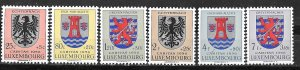 Luxembourg # B192-97  Coats of Arms  1956    (6)   VF Unused VLH