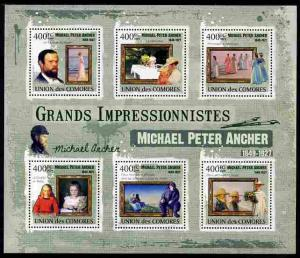 Comoro Islands 2009 Impressionists - Michael Peter Ancher...
