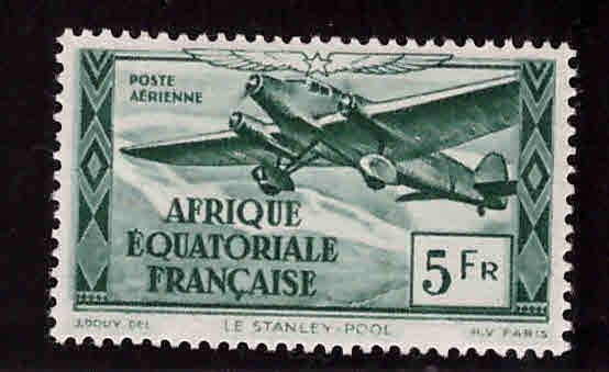 France Scott C22f MH* Airmail  stamp similar centering
