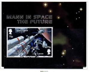 Isle of Man Sc 985 2003 Space Exploration stamp sheet used