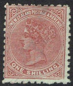 NEW ZEALAND 1882 QV 1/- PERF 10 X 11