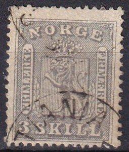 Norway #7  F-VF  Used CV $300.00 (Z6453)