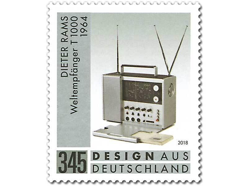 Z07 BRD Deutschland Mi 3400 Germany Stamps 2018 Dieter Rams Radio MNH