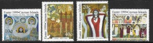 CAYMAN ISLANDS SG884/7 1999 EASTER PAINTINGS   MNH