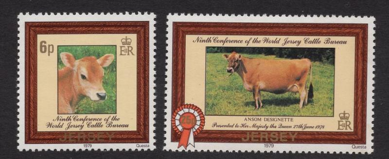 Jersey  #206-207  1979  MNH catlle  Jersey breed