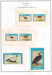 SCOTLAND - STAFFA - 1982 - Birds #23 - Perf, Imp 2v, Souv, D/L Sheets - MLH