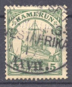 Kamerun, 1904, Seapost Hamburg Westafrika XXVII Eleonore Woermann, VF ++ used
