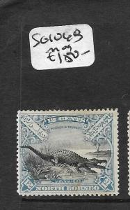 NORTH BORNEO (P2803B) 12C CROCODILE SG 106B  MOG