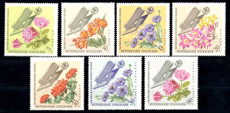 [66942] Togo 1966 Flora Flowers Blumen WHO  MNH