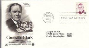1985, Grenville Clark, Artcraft/PCS, FDC (D12982)