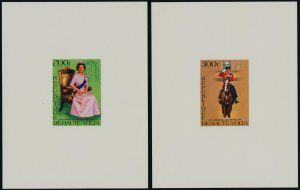 Upper Volta 436-7 Deluxe Sheets MNH Queen Elizabeth Silver Jubilee, Horse