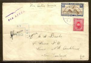 Egypt 1941 Censored Cover to Kamo NZ