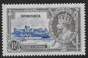 DOMINICA SC# 91  FVF/MOG 1935