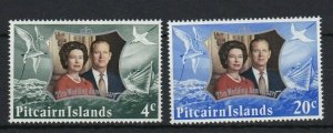 PN106) Pitcairn Islands 1972 Queens 25th Wedding Anniversary MUH