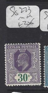 CEYLON  (P3011B)  KE 30  C   SG 273       MOG