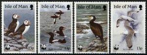 Isle of Man 1989, Seabirds WWF set MNH, Mi 408-411 3,6€