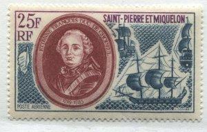 St. Pierre & Miquelon 25 francs Airmail unmounted mint NH