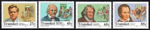 Transkei - 1992 Heroes of Medicine Set MNH** SG 281-284