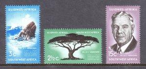 South West Africa - Scott #309-311 - MH - SCV $3.45