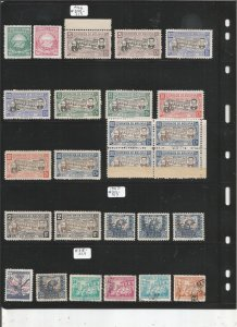 BOLIVIA COLLECTION ON STOCK SHEET, MINT/USED