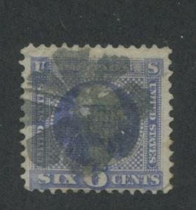 1869 US Stamp #115 6c Used Fine Full Cancel Catalogue Value $200