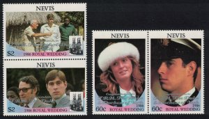 Nevis Royal Wedding Prince Andrew 2nd issue 4v 1986 MNH SG#454-457