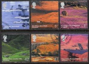 2003 Sg 2385/2390 A British Journey Scotland Fine Used Set of 6