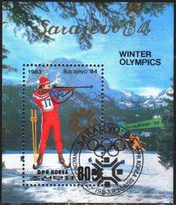North Korea. 1983. bl149. Sarajevo Winter Olympics. USED.