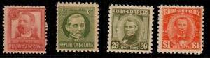 Cuba Scott 272,307B,526,528 Mint NH (Catalog Value $36.75)