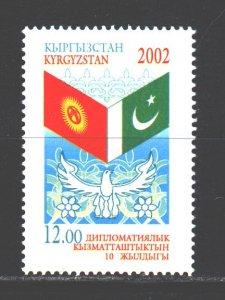 Kyrgyzstan. 2002. 266. Flags diplomatic ties. MNH.