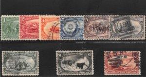 Lot of 9 1898 U.S. Used Trans-Mississippi Stamps Complete Set # 285-93 #141845 X