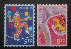 Norway 1338-39. 2002 Europa, Circus, NH