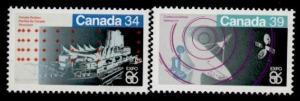 Canada 1078-9 MNH Expo 86, Communications