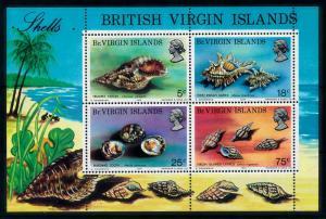 [99704] British Virgin Islands 1974 Marine Life Sea shells Souvenir Sheet MNH