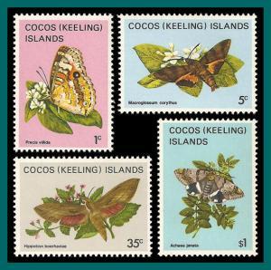 Cocos 1982 Butterflies Moths 1, MNH 87-100,SG84-SG97