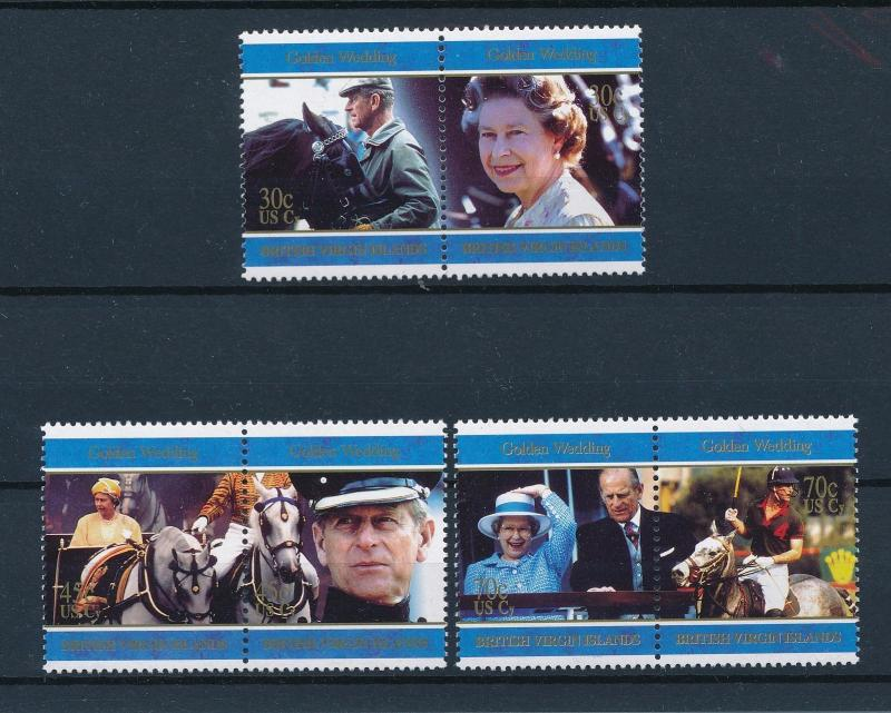 [57693] British Virgin Islands 1997 Horse Royalty Three pairs MNH